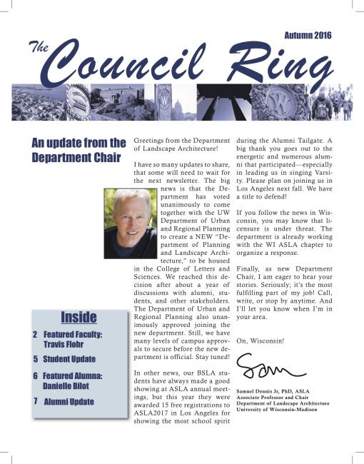 snapshot of the Council Ring newsletter cover