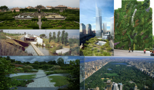 Images of parks and green space grouped together