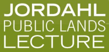 Jordahl Public Lands Lecture logo