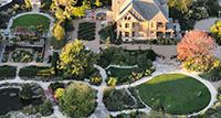 overhead view of Allen Centennial Gardens. photo by Jeff Miller