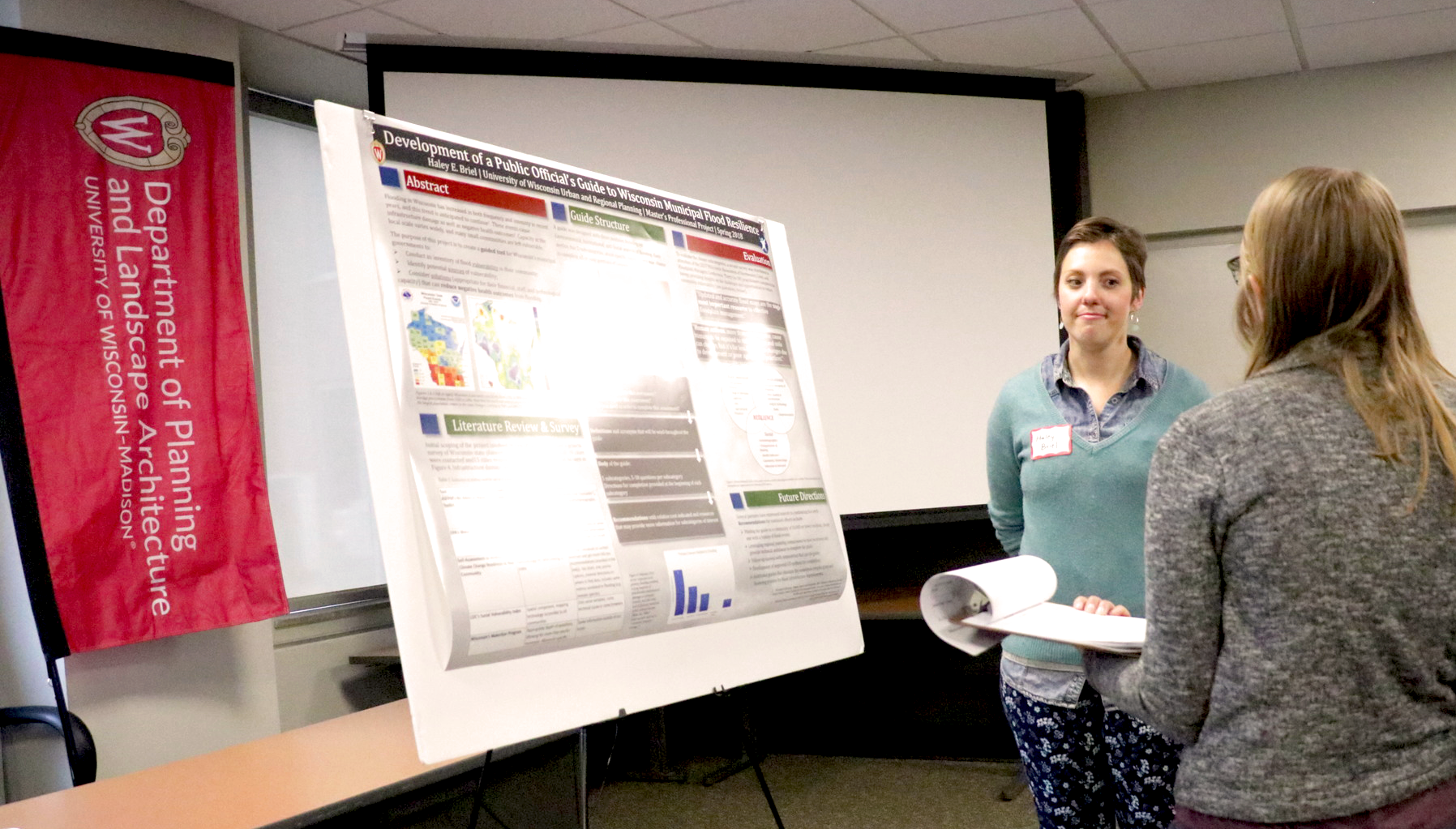 Haley Briel presents her findings at the 2017-2018 MS URPL Project Poster Forum