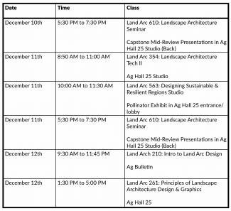 Chart description of jury schedule